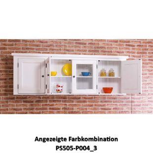 Großes Küchenwandregal aus Massivholz iim Landhausstil - moebro.de