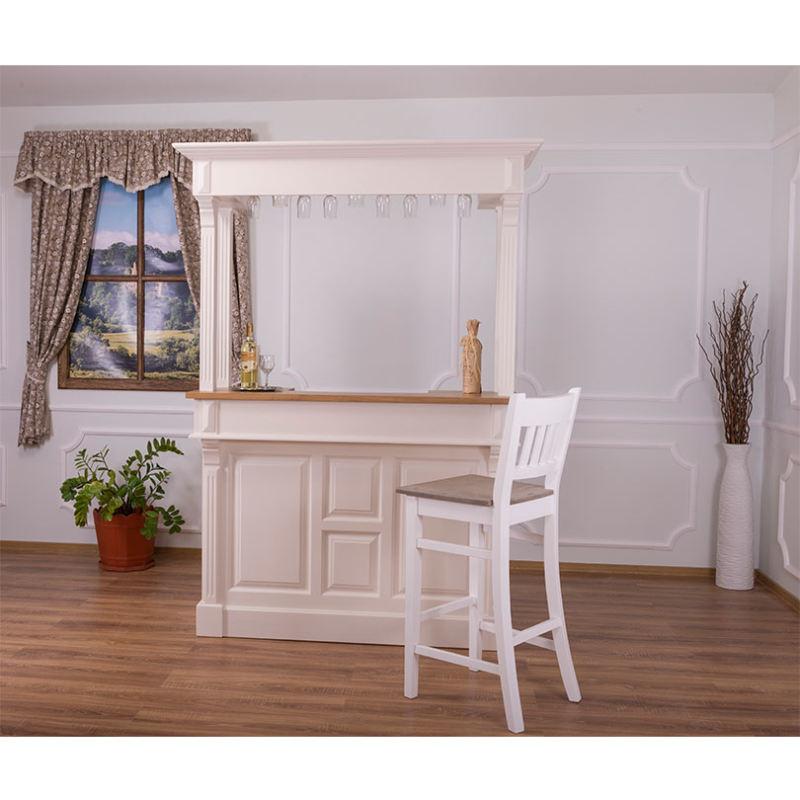 barstuhl mit lehne eichenplatte ihr. Black Bedroom Furniture Sets. Home Design Ideas